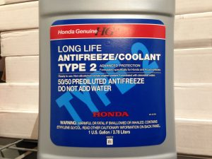 1 Gallon of Genuine Honda Type 2 Coolant