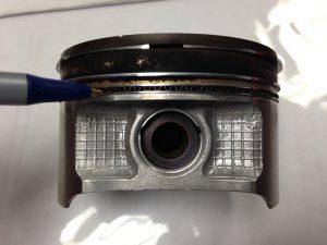 Gasoline Engine Piston - Oil Control Ring Location